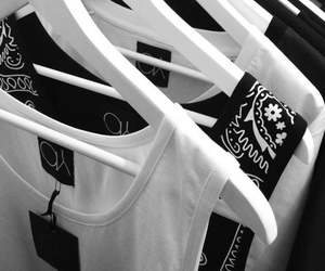 clothes, black and white, and black image