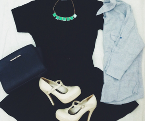 black, clothes, and Michael Kors image