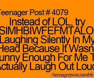 lol, funny, and teenager post image