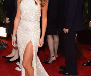 dress, red carpet, and lea michele image