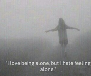 alone, being, and black&white image