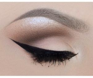 black, liner, and make up image