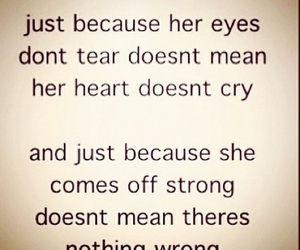 quote, cry, and strong image