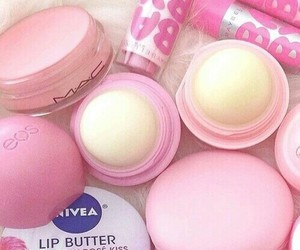 pink, eos, and baby lips image
