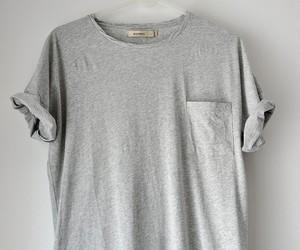 fashion, grey, and shirt image