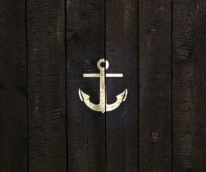 anchor, wood, and sea image