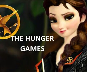 disney, frozen, and hungergames image
