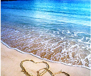 beach and hearts image