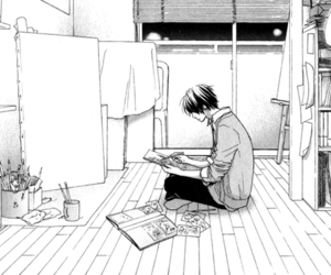 manga, alone, and boy image