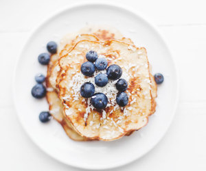 blueberries, food, and breakfast image