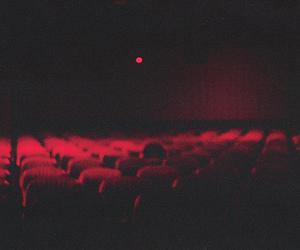 red, dark, and vintage image