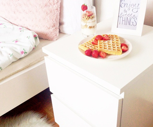 bed, food, and girly image
