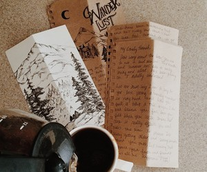 handlettering, Letter, and mail image