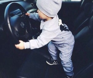 baby, car, and boy image