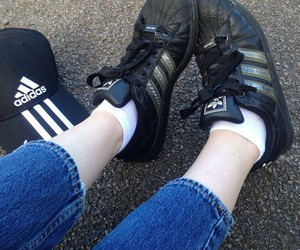 adidas, cap, and dark image