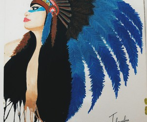 art, artwork, and red indian image