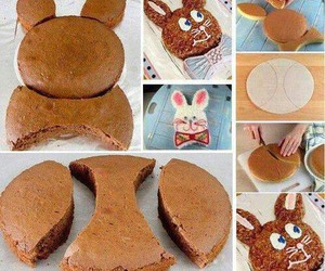 diy, cake, and bunny image