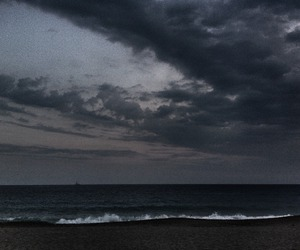 grunge, sea, and sky image