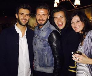 Harry Styles, one direction, and David Beckham image