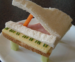 piano, food, and sandwich image