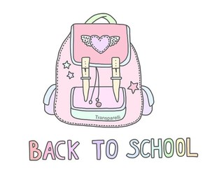 pink, school, and overlay image