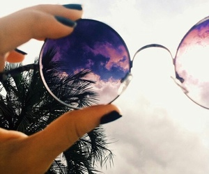 summer, sunglasses, and sky image