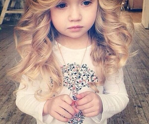girl, hair, and baby image