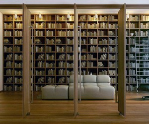 modern library ladder, library rail ladder, and wooden loft ladders image