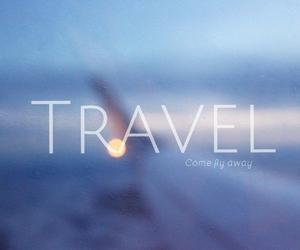 airplane, away, and bag image