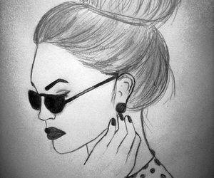 beauty, drawing, and fashion image