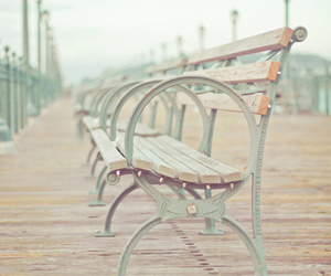 bench, photography, and vintage image