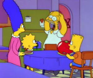 bart simpson, homer, and lisa simpson image
