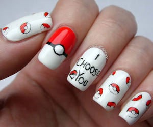 nails, pokemon, and red image