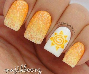nail, nail art, and yellow image