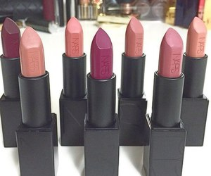 lipstick, makeup, and nars image