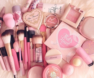 pink, makeup, and make up image