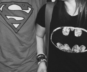 batman, superman, and couple image