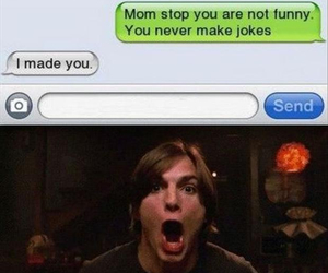 funny, burn, and mom image