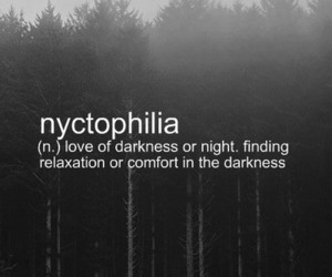 Darkness, night, and nyctophilia image