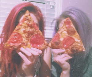 grunge, pale, and pizza image