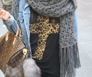 fashion, cross, and leopard image