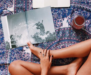 reading, tea, and gypsy image