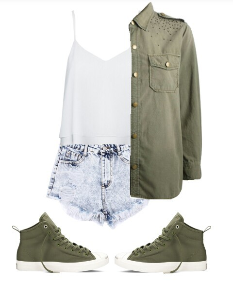 Polyvore, military, and shirt image