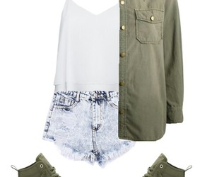 military, Polyvore, and shirt image