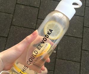 vodka, lemon, and drink image