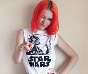 hair, star wars, and grunge image