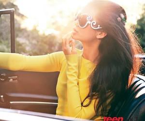 Nina Dobrev, car, and sunglasses image