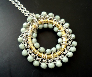 beaded, light blue, and shabby chic image