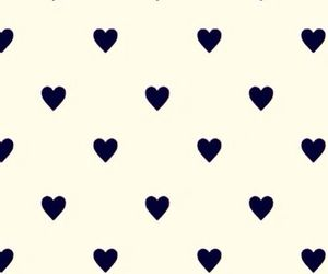 black and white, hearts, and Valentine's Day image