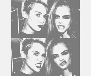 miley cyrus, cara delevingne, and miley image